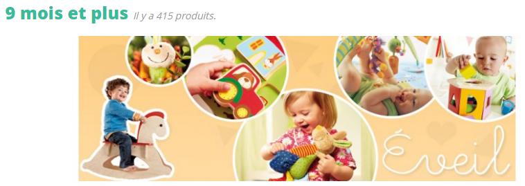A partir de 9 mois, l'enfant explore toutes les possibilités de mouvements, il commence à interagir avec ses jouets et ses peluches et il apprécie beaucoup les petites histoires qu'on lui raconte avec les petites peluches marionnettes et tous les animaux en tissu ou en micro-peluche que l'on secoue ou sur lesquels on appuie pour produire un bruit...