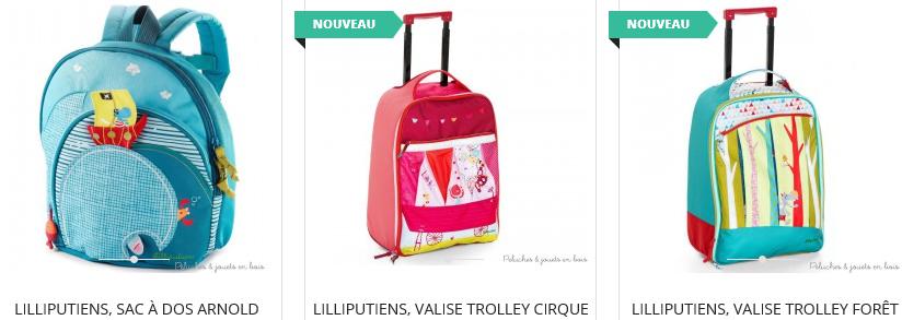 Trolley De Voyage Motif Sac /À Dos Bontour/® Lot De 2 Valises Pour Enfants Papillons