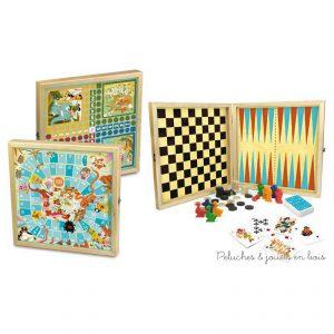 Un coffret de jeux en bois sur le thème des mondes fantastiques fabriqué en France par Vilac. A partir de 4 ans+