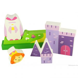 Puzzle magnétique vertical en bois de la marque Bigjigs sur le thème princesse. A partir de 18 m+