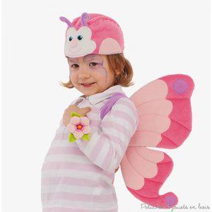Deviens ce charmant papillon grâce à cet ensemble de déguisement très doux au toucher et confortable sur la peau avec des élément 3D rembourés. Lavable en machine à 30°. Normes CE