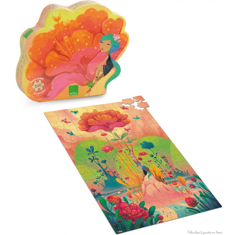 Un puzzle en bois de 200 pièces sur le thème île aux rêves signé Vilac. Ce magnifique et poétique puzzle permettra aux enfants de découvrir une fresque féérique illustrant une île fantastique sortie tout droit d'un rêve . A partir de 7 ans+