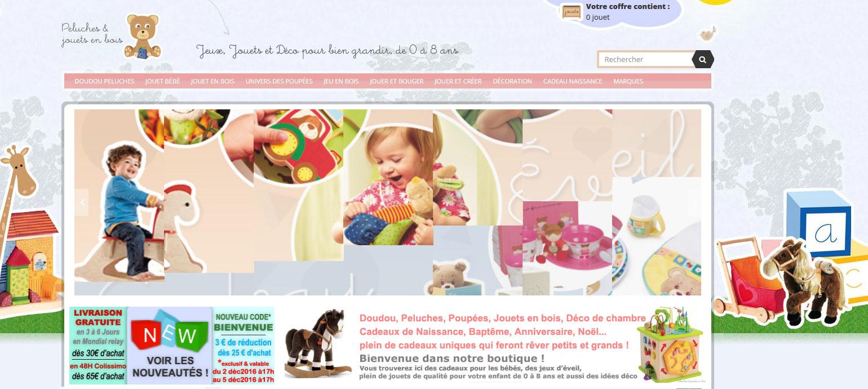 Des peluches & doudous, des jouets en bois et des cadeaux de naissance en ligne