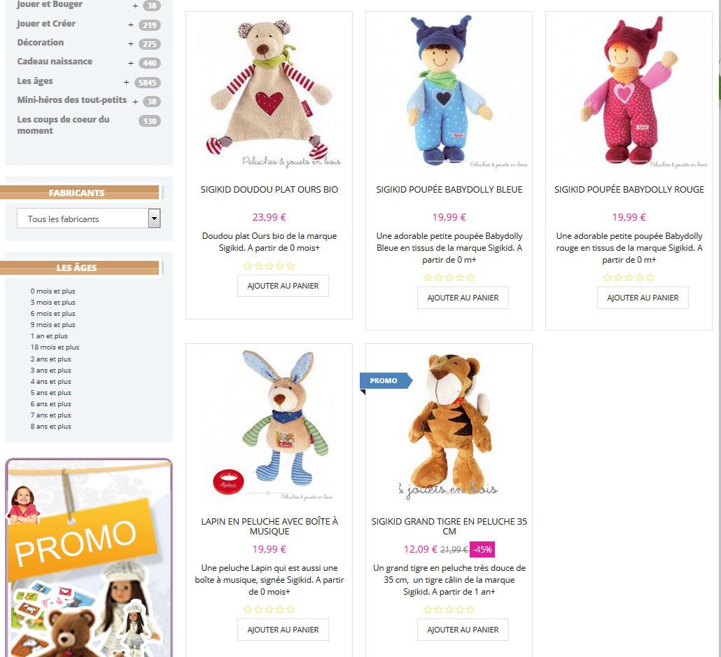 Un Cadeau bébé ou un Cadeau de naissance à prix soldés : Sigikid propose des jouets d'éveil destinés au bébé ...
