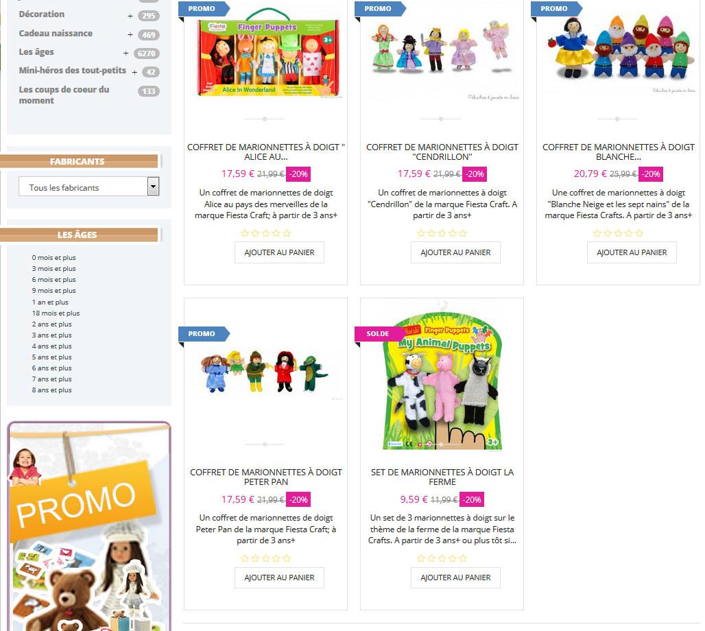 """Les marionnettes & ?jouets imaginatifs & éducatifs Fiesta Crafts """"Artisan de la Fête"""" produites avec + grand soin"""