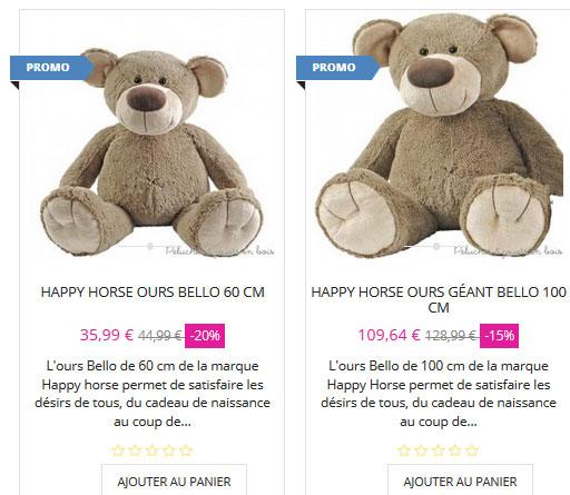 Énorme le cadeau offrir le plus gros des cadeaux de naissance & deco de chambre de bébé Bello 1 metre ou 60 cm