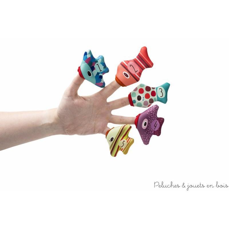 Aussi fun que colorés, ces petites marionnettes à doigts égayeront l'heure du bain.