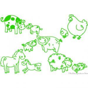 Stampominos sur le thème animaux de la Ferme contient 10 tampons encreur faciles à prendre en main et un gros encreur pour des résultats faciles à colorier. De savoureux moments de création et d'apprentissages grâce aux idées de jeux fournies dans la notice. Encre lavable. Normes CE.