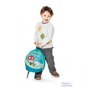 Un sac à dos georges de la marque Lilliputiens. Hop, c'est parti avec ce sac à dos sur les épaules pour 1001 aventures! astucieux il comporte plusieurs espaces de rangement pour accueillir tout le nécessaire de son petit propriétaire. A partir de 3 ans+