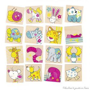 Un jeu de mémo illustré avec les petits personnages de l'univers coloré et enfantin de la gamme Susibelle de la marque Goki. A partir de 3 ans+