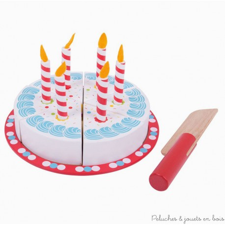 Bigjigs Gâteau d'Anniversaire à découper