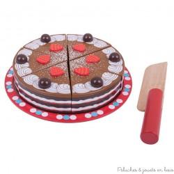 Bigjigs, Gâteau au chocolat en bois