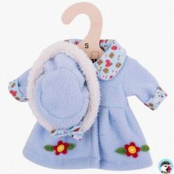 Bigjigs Manteau et chapeau bleu ciel pour Poupée de chiffon 25 cm