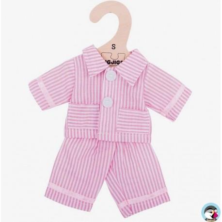 e0e7485f2492 veste pantalon de pyjama rose bigjigs toys vetement poupée 25cm 2 ans+