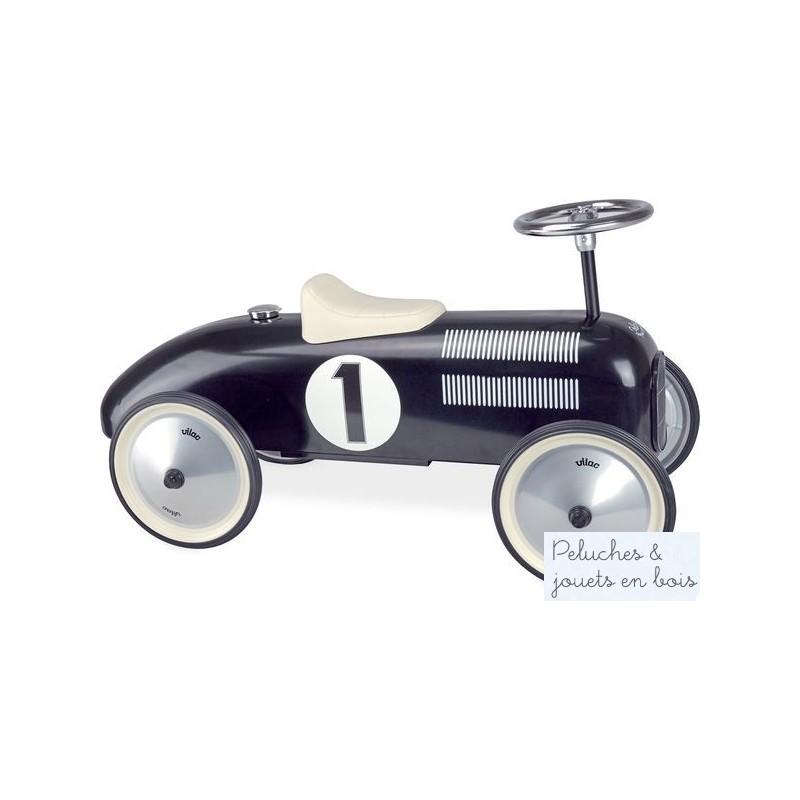 voiture porteur m tal noir jouet b b sign vilac pour 18 an. Black Bedroom Furniture Sets. Home Design Ideas