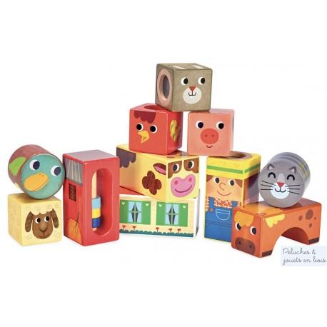 Vilac, Cubes sonores animaux de la ferme