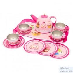 Ulysse, Mallette Dinette Service à Thé Métal Cupcake