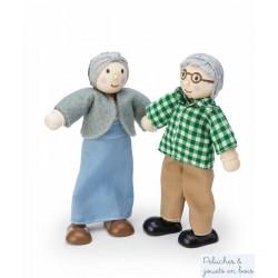 Les Grands Parents poupées articulées en bois Le Toy Van