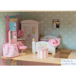 Le toy van meubles Daisylane, chambre à coucher des parents
