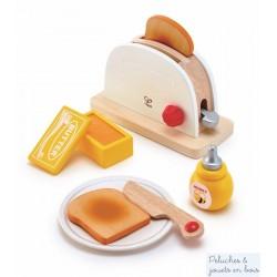 Ensemble du petit dejeuner grille pain blanc Hape E3148