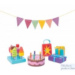 Le Toy Van Accessoires de goûter d'anniversaire pour poupées en bois