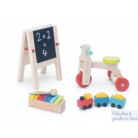 Le Toy Van Accessoires de salle de jeux pour poupées en bois