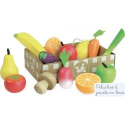 Ensemble de Fruits et Légumes Jour De Marché Vilac 8103