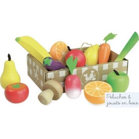 pour jouer la marchande 12 fruits l gumes jouet en bois vilac 3 ans. Black Bedroom Furniture Sets. Home Design Ideas