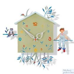 Horloge Alabonneheure Le Laton Raveur L'Oiseau Bateau