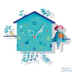 Horloge Alabonneheure Le chat botté L'Oiseau Bateau