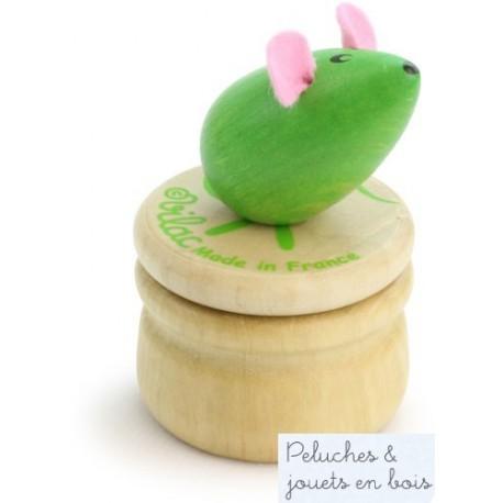 Vilac Boîte à dents de lait souris verte en bois