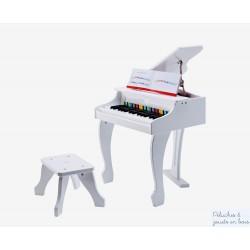 Piano à queue électronique Blanc Jouet en bois Hape E0338