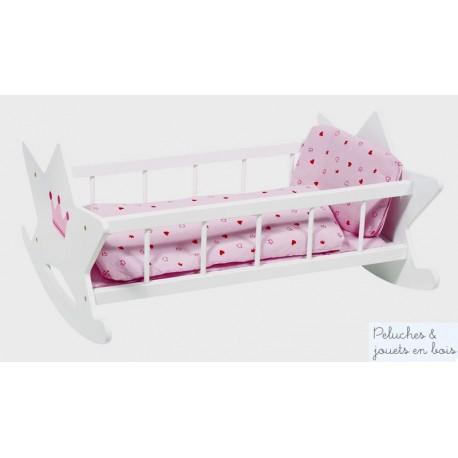 Berceau pour poupée avec linge de lit