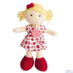 Doudou et Compagnie, Petite Demoiselle Blonde Robe à Fraises