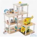 Hôpital avec accessoires 30 pièces de jeu en bois Tidlo T0119