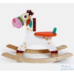 Scratch Cheval à bascule en bois poney indien