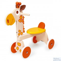 Scratch Porteur trotteur en bois girafe