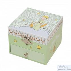Trousselier boite à musique cube Le Petit Prince Jardin - figurine prince