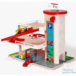Garage Parking Contiloop jouet en bois et 3 acc.