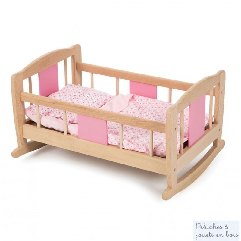 un berceau de poup e en bois accessoires marque tidlo 3 ans. Black Bedroom Furniture Sets. Home Design Ideas