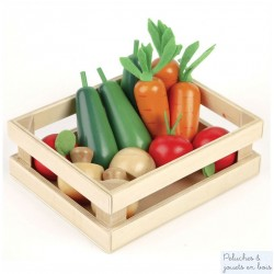 Caisse de légumes pour Jouer à la marchande Dinette en bois Tildo T0134