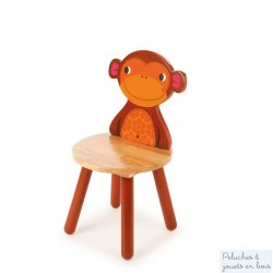 Chaise Singe Mobilier Enfant Animaux de la  Jungle en bois Tidlo