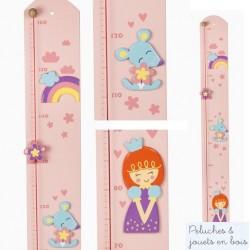 Toise couleur en bois thème Princesse Le coin des enfants