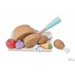 Le toy van, le poulet rôti à découper