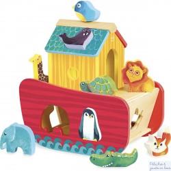 Vilac Arche des animaux boîte à forme en bois 2429