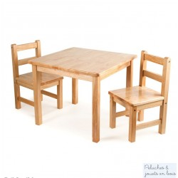 lot de 2 Chaises d'enfant Collection bois massif naturel Tidlo