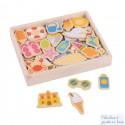 Boîte de 35 magnets en bois thème bord de mer