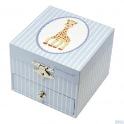 Trousselier boite à musique cube Sophie la Girafe phosphorescente figurine Sophie