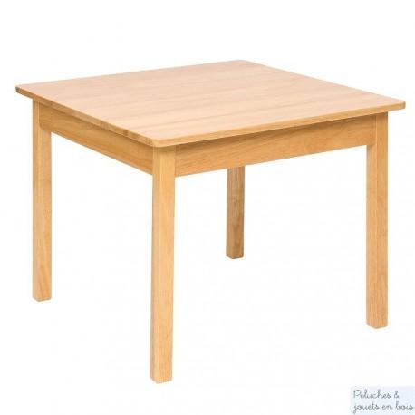 Table Junior en bois naturel Mobilier Enfant en bois massif Bigjigs