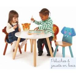 Pack 2 chaises en bois  Jungle Mobilier Enfant Tidlo T0201 T0202